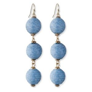 BaubleBar Blue Drop Earrings
